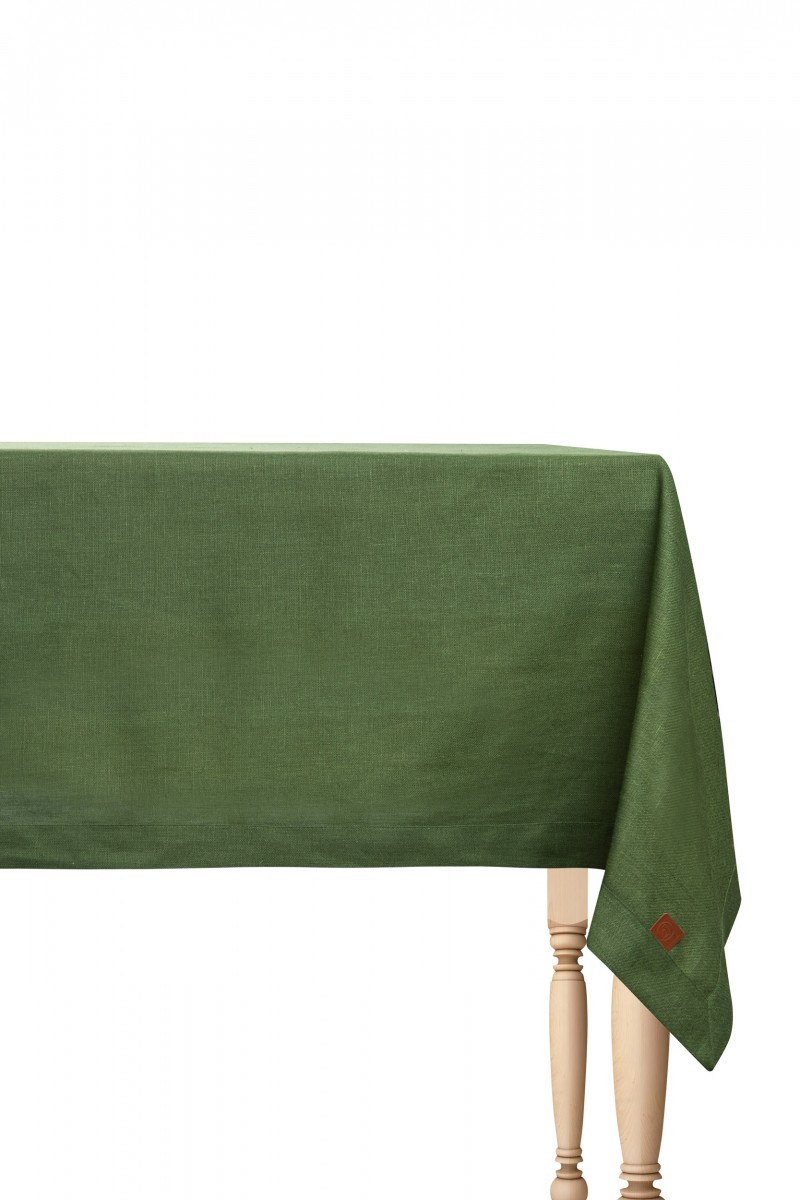 Obrus lniany zielony